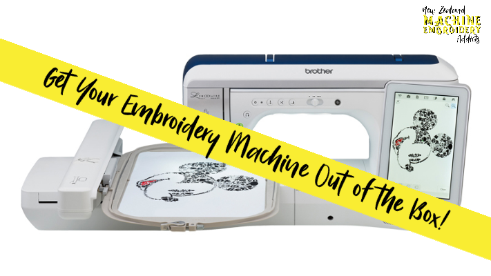 Get Your Embroidery Machine Out of the Box