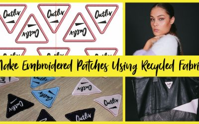 Make Embroidered Patches Using Recycled Fabric