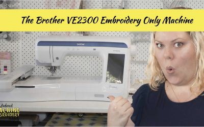The Brother NZ VE2300 Embroidery Only Machine