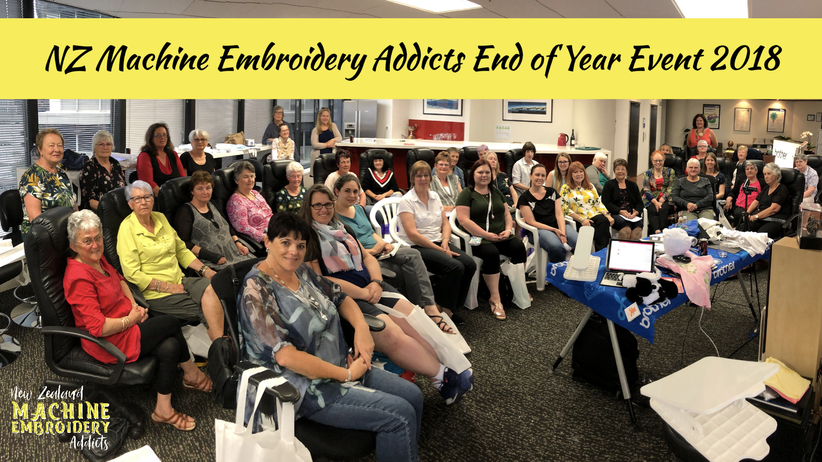 NZ Machine Embroidery Addicts End of Year Event 2018